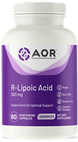 AOR R- Lipoic Acid- 300mg- Powerful Antioxidant- 60 vcap