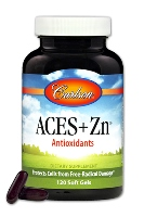 Carlson ACES + Zn - Vitamin A, C, E with Selenium + Zinc, 120 softgels
