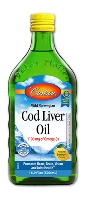 Carlson Norwegian Cod Liver Oil - 16.9 FL OZ (500 ml) - Lemon Flavor