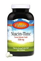 Carlson Niacin-Time-500mg, 500 timed-release tablets