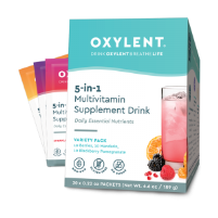 Oxylent Daily Sparkling Multivitamin Drink- Variety Pack, 30 packets