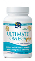 Nordic Naturals Ultimate Omega Xtra- Concentrated EPA, DHA with Vitamin D3-Lemon, 60 softgels
