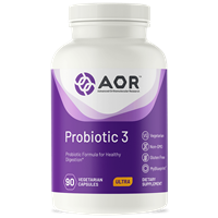 AOR Probiotic-3 for Healthy Digestion and Immune Support - 90 vcap