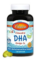 Carlson for Kids Chewable DHA,100mg.DHA, Orange flavor,120 chewables