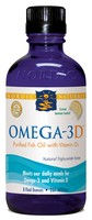 Nordic Naturals Omega-3D Liquid - Pure Fish Oil with Vitamin D3- 8 fl oz - Lemon
