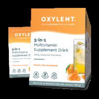 Oxylent Daily Multivitamin Drink- Sparkling Mandarin, 30 packets