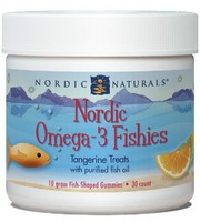 Nordic Naturals Nordic Omega-3 Fishies, 30 fish shaped tangerine gummies