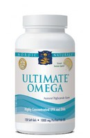 Nordic Naturals Ultimate Omega - Concentrated EPA DHA Pure Fish Oil - 120 softgels