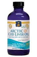 Nordic Naturals Arctic-D Cod Liver Oil Lemon - 8 fl oz